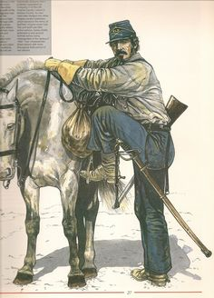 CSA Trooper, Sussex Light Dragoons.