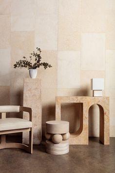 Wood Furniture Living Room, Home Furniture, Furniture Design, Furniture Ideas, White Oak Wood, Modern Side Table, Kelly Wearstler, Interior Design Living Room, Room Interior