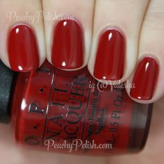OPI Romantically Involved - Fifty Shades of Grey Collection Cute Nails, Pretty Nails, Nails Opi, Opi Red Nail Polish, Bling Nails, Nail Polishes, Colorful Nail Designs, Nail Art Designs, Nagel Gel