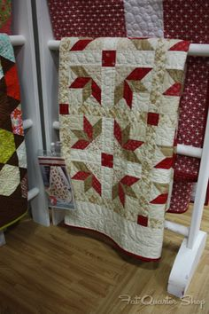Hamptons quilt by It's Sew Emma featuring Midwinter Reds