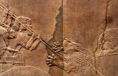Assyrian Lion Hunt Reliefs, from the Nineveh Palace of King Ashurbanipal