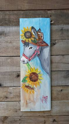 sunflower donkey