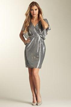 Sequin Wrap Party Dress