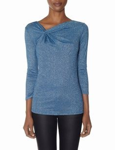 Shimmery Twist Top from THELIMITED.com #ItsTime #TheLimited