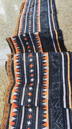 Handwoven Hmong  cotton, Vintage fabric Indigo  textiles and fabrics- from thailand