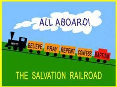 Salvation Railroad what a super idea for any Sunday school teacher or EVERY Mom… Train Bulletin Boards, Religious Bulletin Boards, Christian Bulletin Boards, School Bulletin Boards, Jesus Bulletin Boards, Classroom Board, Classroom Themes, Sunday School Rooms, Sunday School Classroom