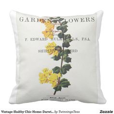 Vintage Shabby Chic Home: Darwin's Barberry Pillows
