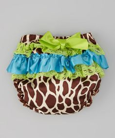 Giraffe Ruffle Diaper Cover - Infant
