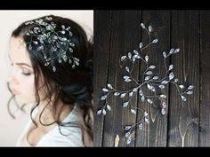 Easy DIY Headpiece for Prom Wedding Bridal Hair Pin Headband - YouTube