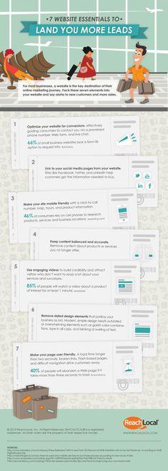 7 Website Essentials to Land More Sales #onlinemarketing