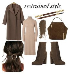 restrained style by cskitti on Polyvore featuring polyvore fashion style Onesixone JustFab Yves Saint Laurent clothing