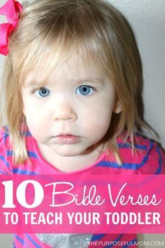 These 10 Bible verses (need to change to KJV) are perfect for toddlers to memorize, helping them hide God's Word in their hearts! They learn so quickly and love committing Scripture to memory! Toddler Bible, Bible For Kids, Toddler Fun, Baby Bible, Toddler Stuff, 4 Kids, Kid Stuff, Preschool Bible, Bible Activities