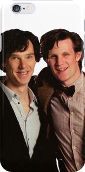 'Sherlock and Eleven' Photographic Print by drawingdream Blues Clues, Matt Smith, Many Faces, Martin Freeman, David Tennant, Benedict Cumberbatch, Superwholock, Sherlock Holmes, Good People