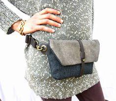 Hip Bag - Fanny Pack - Traveler Bag - Utility Hip Belt - Hip Pouch by RuthKraus, $58.00