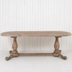 Oval Timber Dining Table – Allissias Attic & Vintage French Style at www.allissiasattic.co.uk