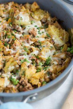 ground turkey cabbage skillet primavera kitchen recipe