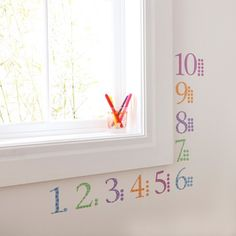 Childrens Number Wall Stickers, Includes Numbers and Counters Harlequin Pastel Big Girl Rooms, Boy Room, Kids Room, Number Stickers, Wall Stickers, Harlequin Pattern, Toddler Rooms, Childrens Rooms, Vinyl Wall Art