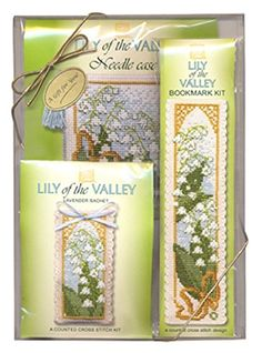 Textile Heritage Cross Stitch Kit Gift Set 3 Projects-Lily of the Valley