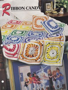 Ribbon Candy,  Annie's Crochet Quilt & Afghan Club Pattern Leaflet 08-1-03