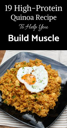 19 high protein quinoa recipes to help you build muscle fast - . - 19 high protein quinoa recipes to help you build muscle fast – - High Protein Vegetarian Recipes, Quick Vegetarian Meals, High Protein Snacks, Healthy Recipes, Protein Foods, Best Quinoa Recipes, Quinoa Protein, Protein Cake, Protein Muffins