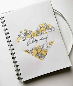 February Monthly Bullet Journal Covers