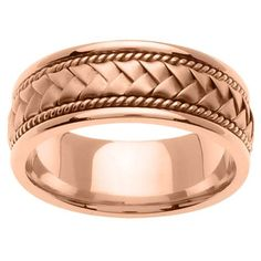 Mens 10K Rose Gold Handmade Wedding Band Ring  by TallieJewelry, $569.00