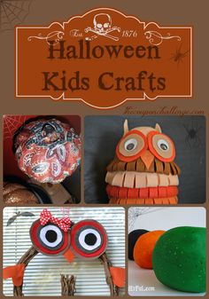 Kids love to get crafty.  Try these 18 Halloween Kids Crafts.  There are crafts for all levels, so your sure to find the perfect masterpiece for your child.