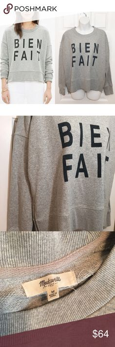 мα∂єωєℓℓ - Bien Fait Sweatshirt ☞ ℓσωєѕт?  Prices are firm unless offer is reasonable  Bundle option is available   ☞ мσ∂єℓ? I do not model my items Comment with specific measurement requests Please allow 2-3 days for request fulfillments   ☞ яєѕєяνє? тяα∂є?  I do not reserve or trade items Madewell Sweaters