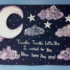 """""""Twinkle twinkle little star I wished for you now here you are!"""""""