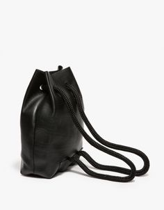 Minimal Backpack - black leather bag, chic minimalist style // The Stowe