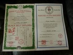 MY 2ND DEGREE BELT DIPOLOMA
