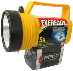 Eveready Utility Lantern, Heavy-Duty Industrial Flashlights Eveready Utility Lantern Classic floating lantern features injection molded case, shatterproof lens and soft, push button switch. Eveready Classic 6V lantern battery included.