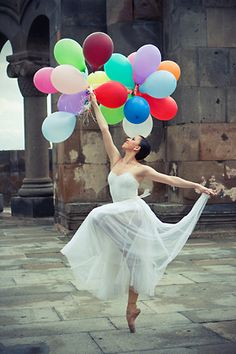 Armenian National Ballet Theater ballerina at the ruins of Zvartnots Temple. Photographer: Irina Danielyan, copyright 2008 Art Vision Studio.
