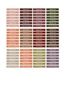 Customizable Fall Autumn M/D/N Section Header Labels (Erin Condren Life Planners)