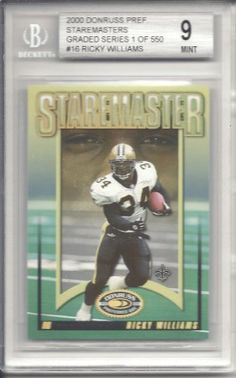Ricky Williams 2000 Donruss Preferred Staremasters #SM16 Beckett Mint 9 by Donruss. $10.00. This is a Ricky Williams graded card. It would make a great addition to any card collection.