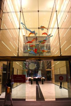 "Public Art  Installation Sculpture, ""Tales From The Oceans, Ocean Financial Centre, Office Building  Singapore, 2015"""
