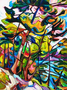 Landscape Archives - Page 3 of 6 - Julia Veenstra Abstract Tree Painting, Abstract Art, Landscape Art, Landscape Paintings, Mountain Paintings, Canadian Art, Indigenous Art, Colorful Paintings, Print Artist