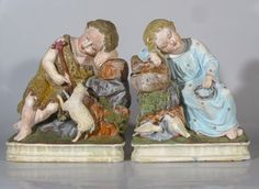 Antique German Bookends The Infant Jesus John The Baptist Lamb Doves Signed | eBayhttp://stores.ebay.com/Vintage-French-Antiques?_trksid=p2047675.l2563