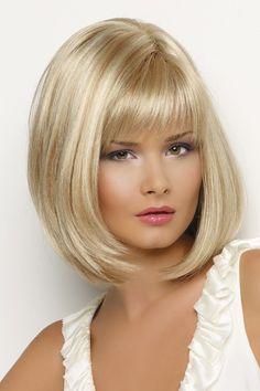 Online Shop Medusa wigs Rubia Bob Synthetic wigs Short Straight hair Blonde Wig for women peruca loira curta Natural wigs with bangs Bobs For Thin Hair, Short Straight Hair, Short Wavy, Straight Haircuts, Bob Hairstyles For Fine Hair, Wig Hairstyles, Bangs Hairstyle, Layered Hairstyles, Casual Hairstyles