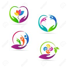 Care logos vector design represents family, child and senior care concept. Graphic Design Tips, Logo Design Inspiration, Design Vector, Ad Design, Vector Art, Wall Texture Design, Massage Logo, Banners, Family Logo
