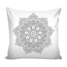 mandala, pillow, adult coloring, coloring book, flower