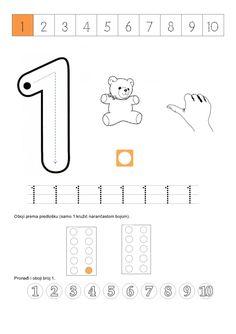 Pronađi i oboji bro… Numicon Activities, Preschool Number Worksheets, Numbers Preschool, Learning Numbers, Math Numbers, Writing Numbers, Maths Eyfs, Math Challenge, Numbers For Kids