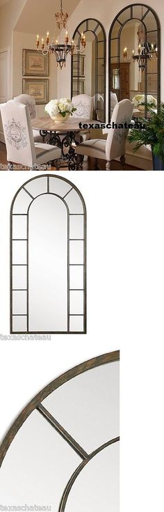 Mirrors 20580: 79 Xl ~ 1 Large Black Arched Windowpane Wall Mirror ~ Horchow Neiman Marcus New -> BUY IT NOW ONLY: $613.8 on eBay!