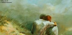 Ρώτησες:  Μ'αγαπάς;  Κι εγώ έγινα μια αγκαλιά ουρανός.. Painting, Art, Art Background, Painting Art, Kunst, Paintings, Gcse Art