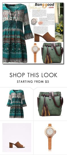 """Bohemian Dress by Banggood 10/20"" by esma178 ❤ liked on Polyvore"