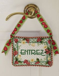 Needlepoint Designs, Needlepoint Canvases, Hand Painted Canvas, Bargello, Letters And Numbers, Fiber Art, Needlework, Hanger, Cross Stitch