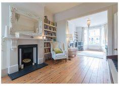 Design Lounge, Dining Room Design, Dining Rooms, Kitchen Dining, Teal Living Rooms, New Living Room, Living Place, Cottage Living, Living Room Knock Through
