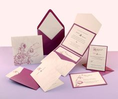 Punch/Custom Printed Wedding Invitation  - Click on the photo to be taken to our gallery room to view all of the elements used in this design or to view other customisable wedding invitation sets that we offer.