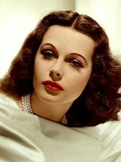 Hedy Lamarr, beautiful, great actress.