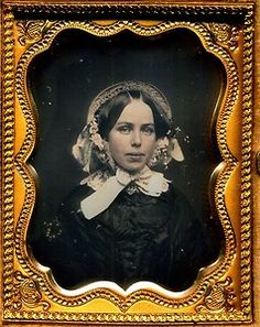 Gorgeous Lady with Flowers in Her Hair Daguerreotype